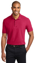 Port Authority TLK510 Tall Stain-Resistant Polo Shirt - Red - $17.98+