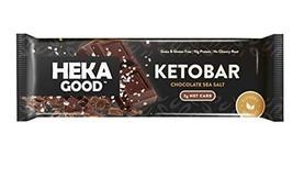 Heka Good Foods Keto Bars, Chocolate Sea Salt, 2g Net Carb, 10g Protein, Low Sug