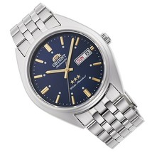 Orient Deneb RA-AB0E08L  automatic men's watch blue dial 39mm stainless steel   - $100.00
