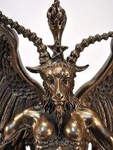 "Baphomet Horned Goat God Statue - 15"" - Cold Cast Bronze Resin by Maxine Miller - $87.99"