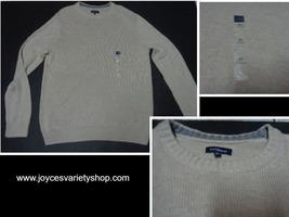 Croft & Barrow Men's Beige Sweater NWT Sz XL Crewneck - $15.99