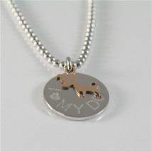 COLLANA A PALLINE IN ARGENTO 925 JACK&CO CON CANE JACK IN ORO ROSA 9KT JCN0549  image 2
