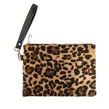 Leopard zipper Wristlet bag  - $19.95