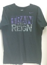 Black Nike T-Shirt with Train To Reign Size L The Nike Tee - $13.98