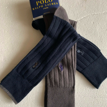Polo Ralph Lauren Dress Socks Navy Gray 10-13 shoes - $21.00