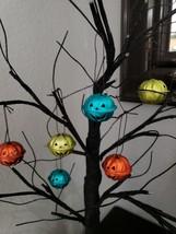 Halloween Pumpkin Orange Green Turquoise Mini Bell Tree Ornaments Decor ... - $10.99