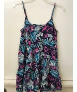 AMERICAN EAGLE Outfitters Pink Blue Hawaiian Tropical Floral Print Mini ... - $12.95