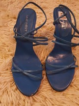 NINE WEST Turquoise high heel open toe sandal size 8 M.  Party/club. - €3,95 EUR