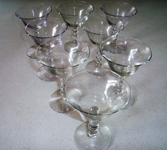 Imperial Glass Candlewick Set Of Eight Liquor Cocktail Glasses - $49.99