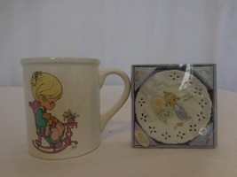 Precious Moments 50th Anniversary Plate Ceramic Floral Embossed + Purr f... - $26.75