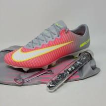 Nike Mercurial Vapor XI SG Womens Size 11. Pink Grey 844231-611 Soccer Cleats - $128.65