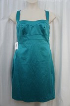 Jessica Simpson Dress Sz 14 Everglade Green Solid Sleeveless Cocktail Party - $63.82