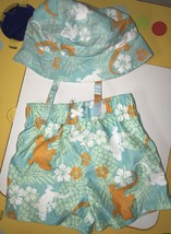 Boys Swimwear Size 18 Months 2 Piece Matching Hat Multi Color Brand New ... - $7.25