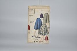 1950 Vintage Vogue Flared Skirts Sewing Pattern Size 14-26 Waist 5106 - $10.34