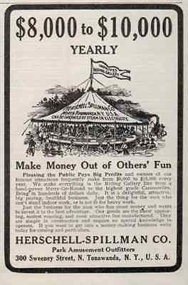 Carousel AD Herschell Spillman North Tonawanda New York 1914 Small Ad