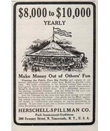 Carousel AD Herschell Spillman North Tonawanda New York 1914 Small Ad - $24.99