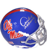 Archie Manning signed Ole Miss Rebels TB Light Blue Schutt Authentic XP ... - $108.95