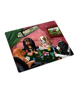 Home of Cavalier King Charles Spaniel Tempered Cutting Board 4 Dogs Play... - $32.66