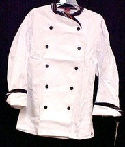 Dickies Chef Coat Size 38 White Executive Stripe Trim CW070303PAS Disc S... - $25.45