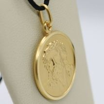 SOLID 18K YELLOW GOLD ECCE HOMO, JESUS CHRIST FACE MEDAL, DETAILED MADE IN ITALY image 3