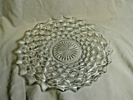 """Fostoria Glass American Cube Large Clear Serving  Platter 12"""" Cake Plate #2 - $27.99"""