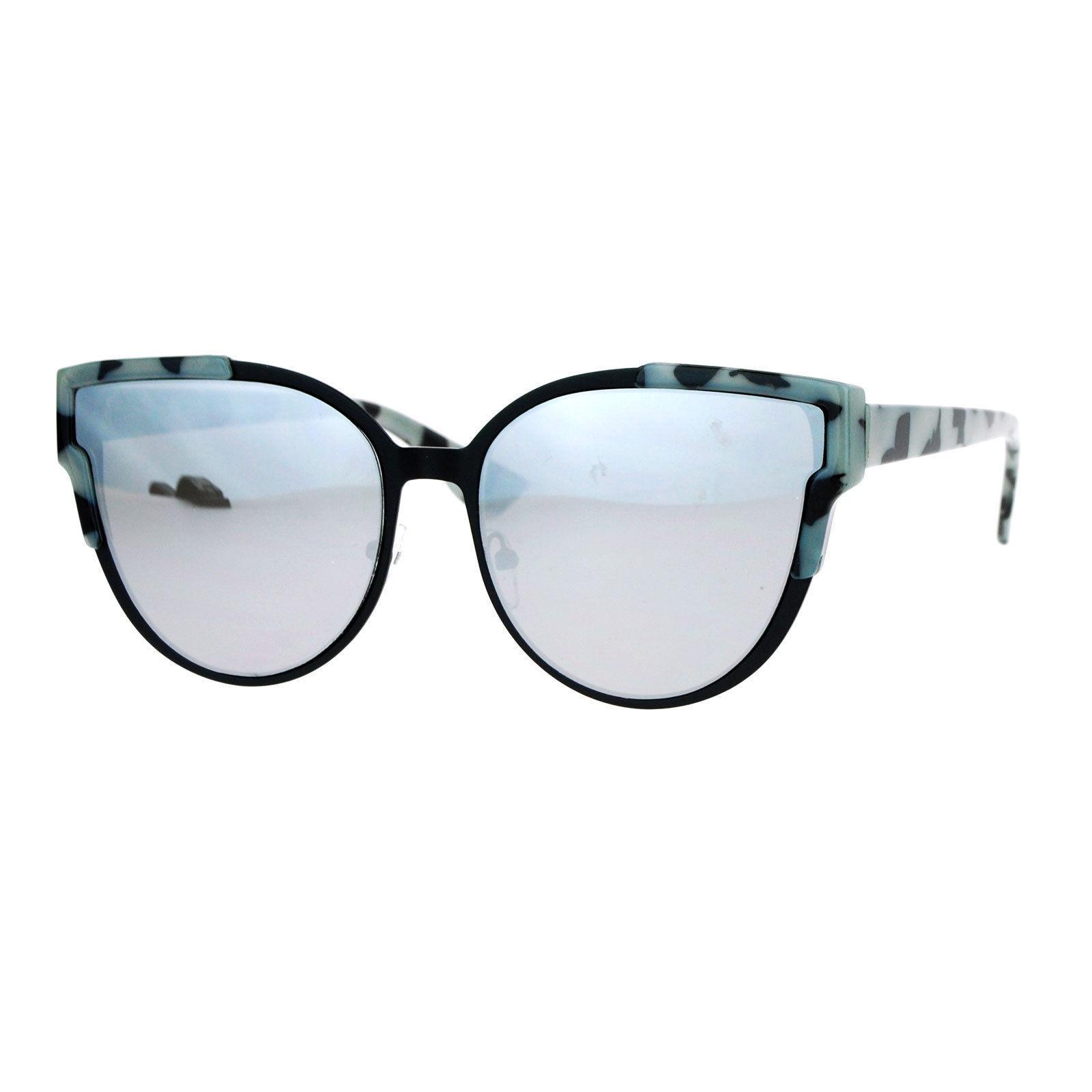 Womens Designer Fashion Sunglasses Butterfly Cateye Frame Mirror Lens UV400