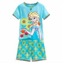 """Disney Store Girls Elsa - Frozen - """"Dream Quest"""" Short Sleep PJ Pals Set, Blue - $16.00"""