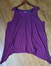 LANE BRYANT Womens Top Size 26/28 Sleeveless Asymetrical Top Blouse NWOT - $8.86