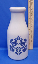 Pfaltzgraff Yorktowne Milk Bottle Jug Water Carafe Blue Flower Pattern U... - $11.87