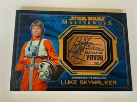 Star Wars Card 2015 Topps Masterwork Luke Skywalker Medallion Battle Yavin sp  - $197.95