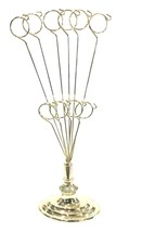 """Tabletop Brass Plated Metal Wire 10 Photo Christmas Card Holder Gold 12""""... - $28.99"""