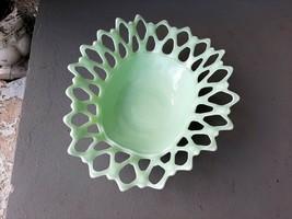 VTG Westmoreland RARE Mint Green Milk Glass Doric Oval Centerpiece Bowl ... - $75.96