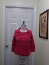 women's J.Crew red 3/4 sleeves button down sweater size xs - $24.30