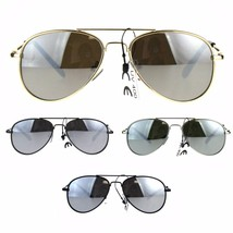 Kids Boy Silver Mirror Lens Classic Pilots Metal Wire Rim Sunglasses - $9.95