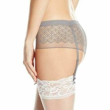 DKNY Womens Sheer Lace Garter Co-Pant French Gray Size NWT image 1