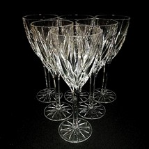6 (Six) MIKASA APOLLO Cut Lead Crystal 8 1/4 Inch Water Goblets Glasses - $113.99