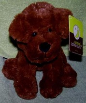 "Animal Adventures Brown Puppy Dog 8""H Plush NWT Adorable - $9.50"