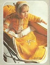Bernat BABY ALBUM Bk 187 to Knit & Crochet Vintage Designs 1972 Hip Mod ... - $6.92