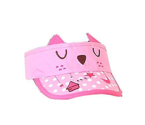 Children Sun Protection Hat Lonely Kittens Cap Without Top 2-4 Years(Pink)