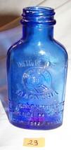 Vintage Empty Embossed Cobalt Blue Phillips Milk of Magnesium Glass Bot... - $6.50