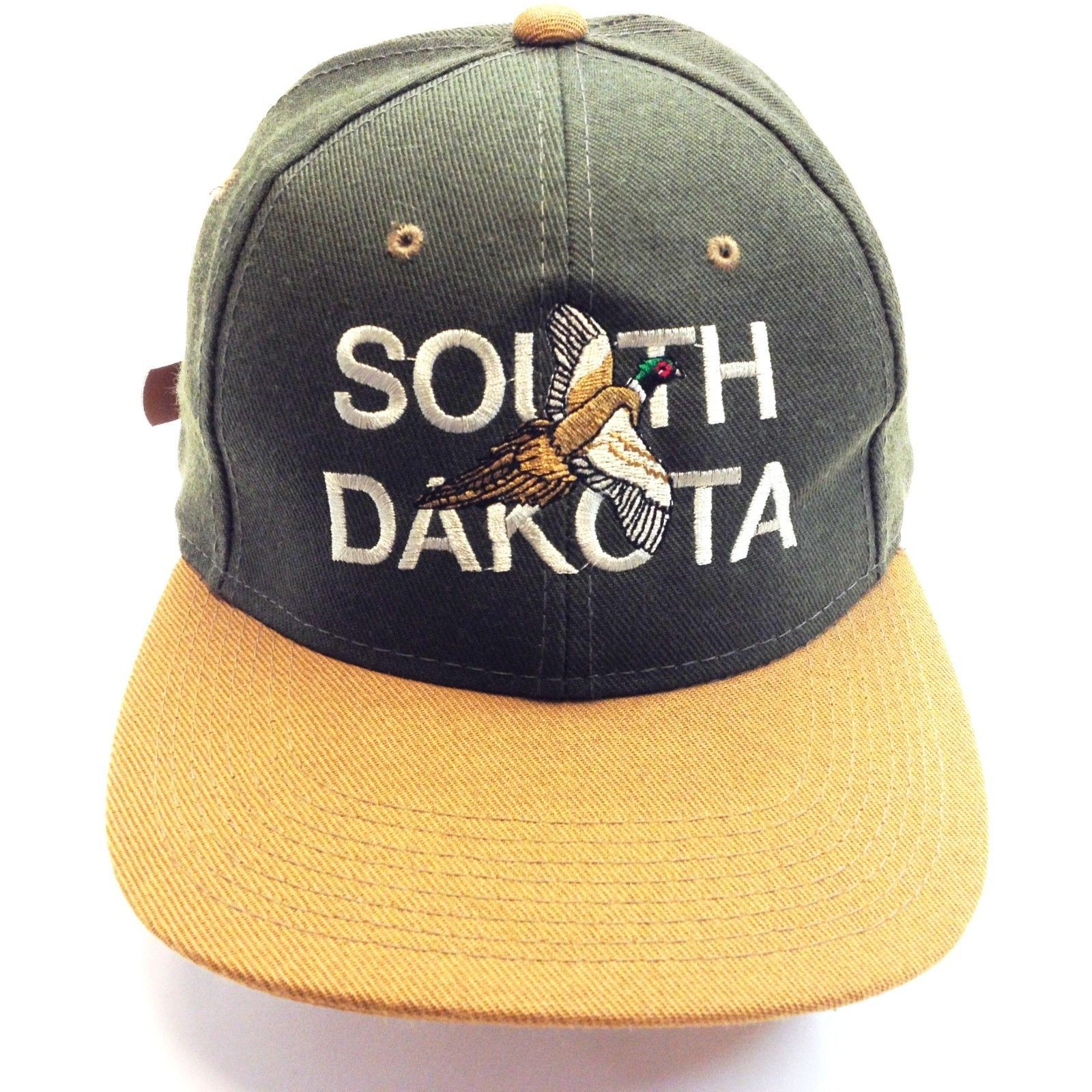 Primary image for SOUTH DACOTA BASEBALL CAP GREEN/BROWN