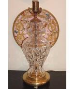 "Waterford Crystal Kingsley Pattern Table Lamp 19 1/4"" - $105.00"