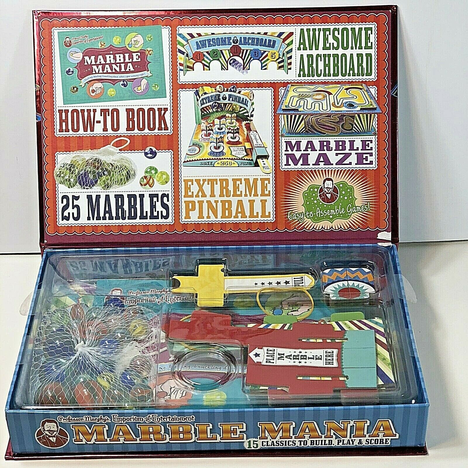 Primary image for Professor Murphy's MARBLE MANIA 15 classics to build Play and Score New in Box