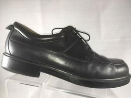 Florsheim Comfortech Black Leather Apron Toe Casual dress Shoes Mens Size 13 W - $31.87