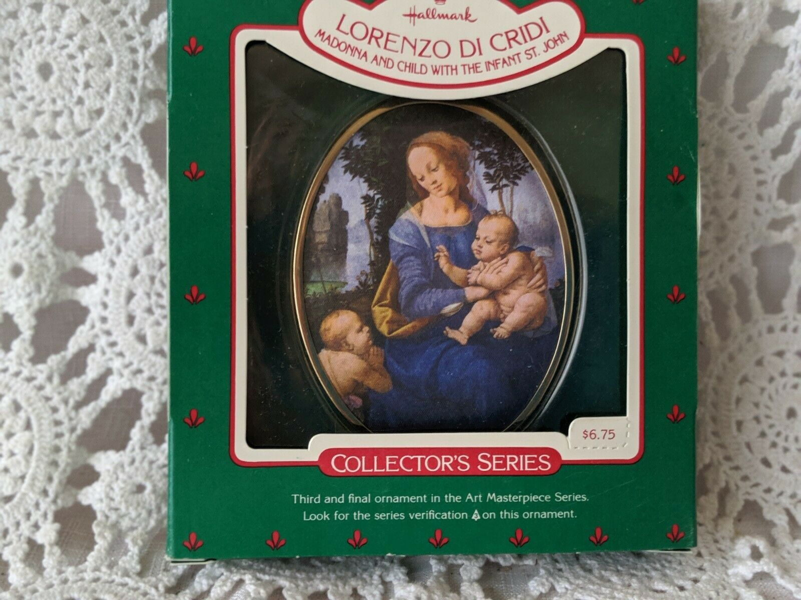 Hallmark Lorenzo Di Cridi Madonna and Child with the Infant St.John Ornament. image 2