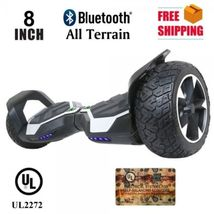 "Silver All Terrain Off Road Bluetooth 8.5"" Hoverboard Two Wheel Balance ... - $329.00"