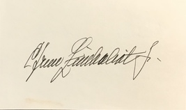 Efrem Zimbalist Jr. Autographed Signed 3x5 Index Card 77 Sunset Strip w/COA - $19.99