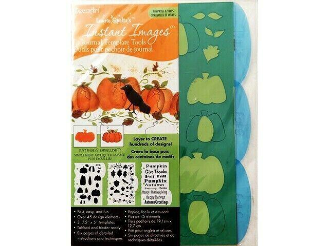 DecoArt Laurie Speltz's Instant Images Templates, Pumpkins & Vines