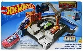 Hot Wheels Mattel City Shipyard Escape Set - $29.69