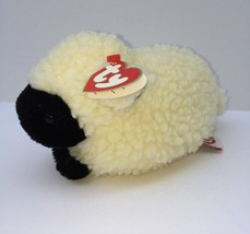 "TY Woolly Plush Lamb Sheep 1995 White Black Face 7"" Sherpa Puff Stuffed ... - $9.29"